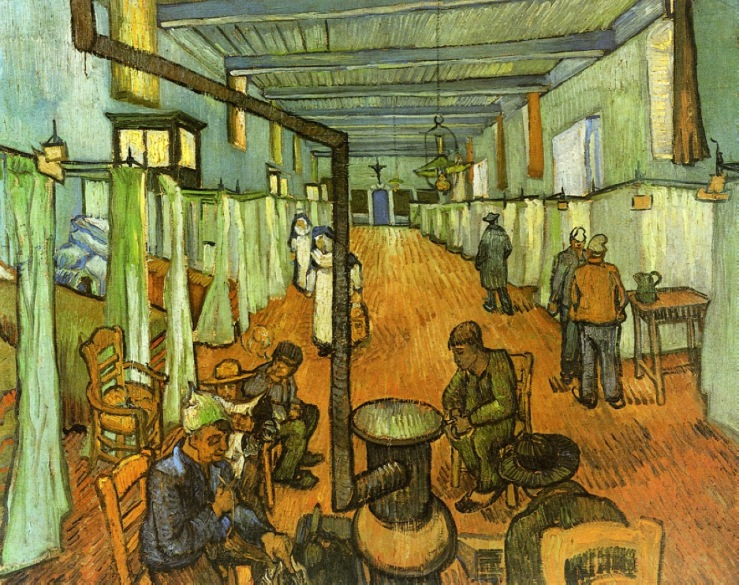 """Ward in the Hospital at Arles"" Vincent van Gogh, 1889"
