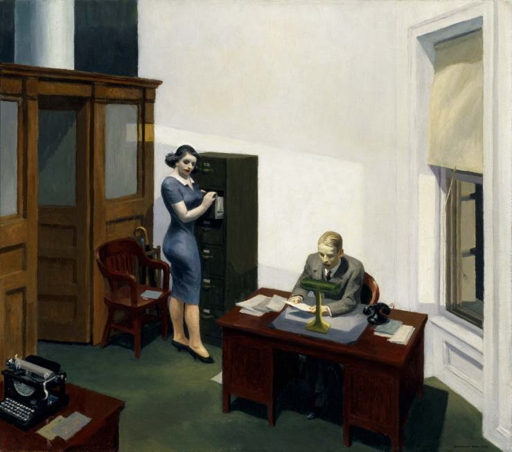 """Office At Night"" Edward Hopper, 1940  Oil on Canvas"