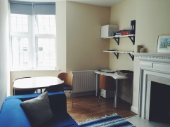 "Our ""cute and cozy"" flat, which we rented from an American couple studying abroad in London."