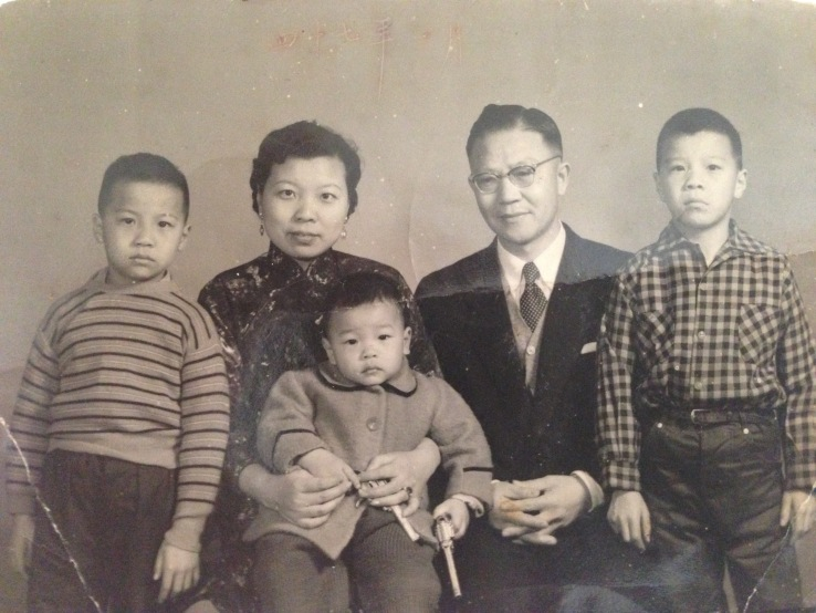 KT Ho, far right, the eldest, loudest of three.