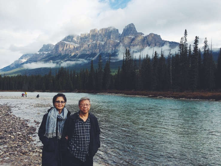 My parents, in Canada.