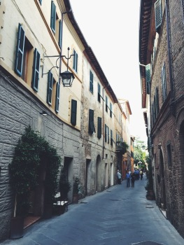 The streets of Montalcino
