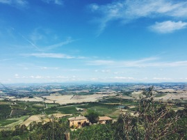 Tuscan farm land.