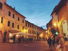 Montalcino at night.