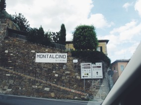 Montalcino begins with a hellish roundabout.
