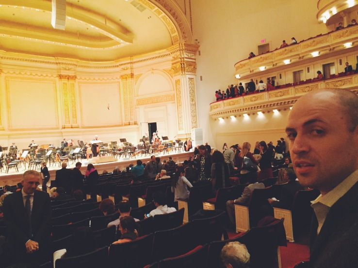 Thom at Carnegie Hall