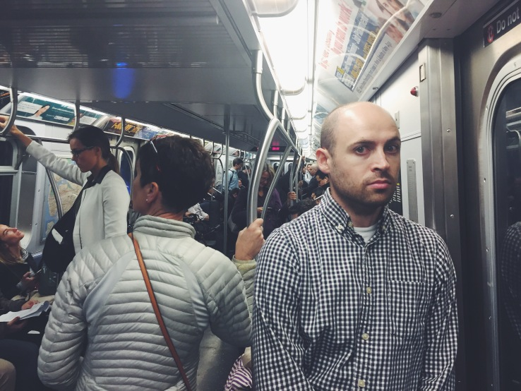 Thom's greatest fear: me talking to him on the subway.