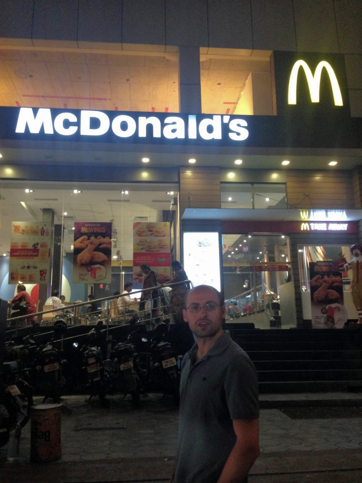McDonald's in Chennai India on Valentine's Day