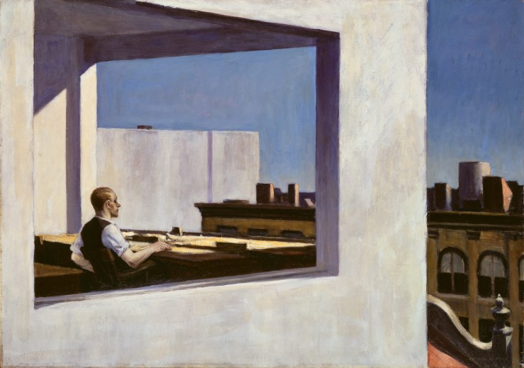 "Edward Hopper ""Office in a Small City"""