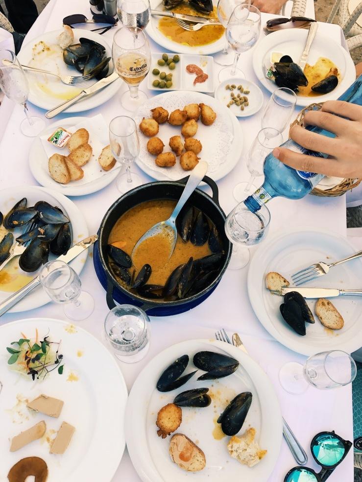 Yacht Club lunch in Palamos.