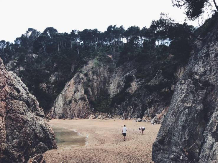 Secret Beach in Costa Brava, Llafranc