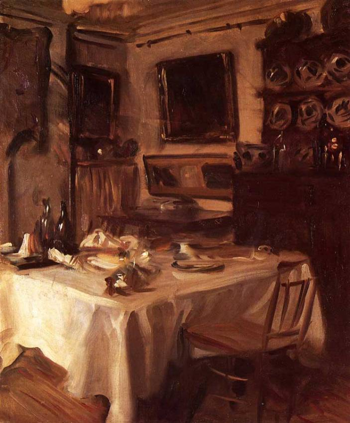My Dining Room Painting by John Singer Sargent