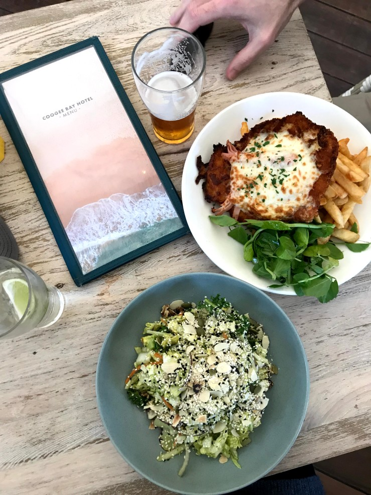 Chicken Parmesan at the Coogee Bay Hotel