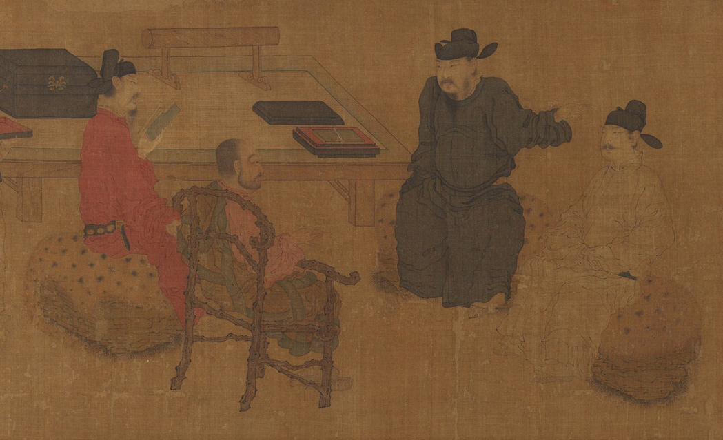 Scholars of Liuli Hall Chinese Painting Song Dynasty